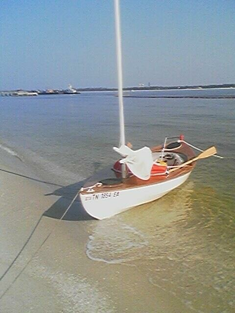 Camera phone snapshot of the boat at Fort Pickens, FL by John Guider.